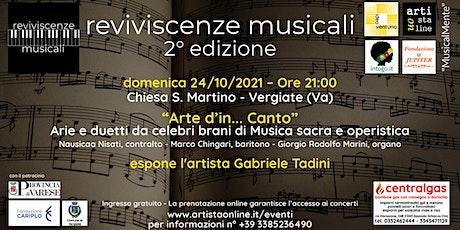 """""""Arte d'in…Canto"""" biglietti"""