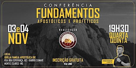Conferência Fundamentos Apostólicos e Proféticos ingressos