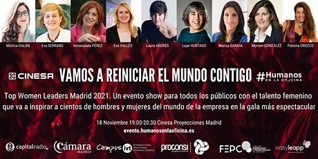 Gran Gala Top Women Leaders Madrid 2021.Vamos a reiniciar el mundo contigo! entradas