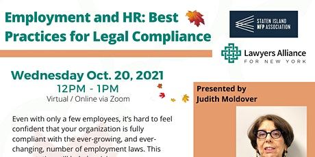Employment and HR: Best Practices for Legal Compliance tickets