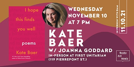 In-Person: Kate Baer: I Hope This Finds You Well w/ Joanna Goddard tickets
