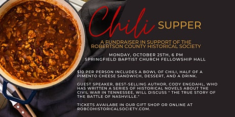 RCHS Chili Supper is back! tickets