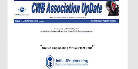 CWB Association - Hamilton Chapter. Unified Engineering Virtual Plant Tour tickets