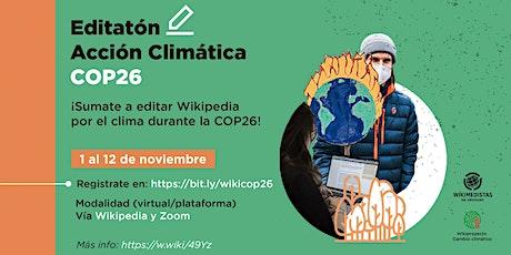 Editatón Wikipedia x el clima COP26 tickets