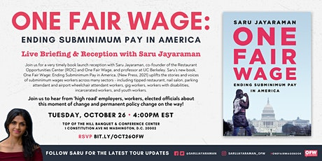 One Fair Wage DC Policy Briefing & Reception tickets