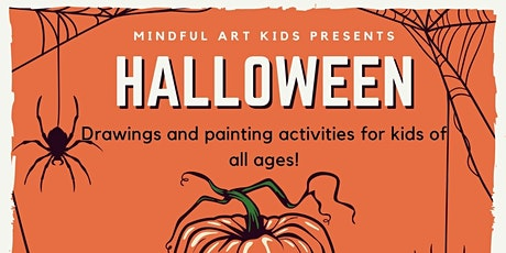 Mindful Art Kids - Halloween Mixed Media Painting Fun! tickets