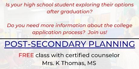 Post-Secondary Planning Workshop (College/Job Prep) tickets