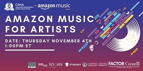 CIMA and Amazon Music Present: Amazon Music for Artists tickets