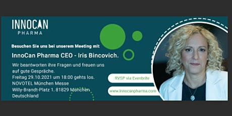 Q&A and Gathering with CEO Iris Bincovich of Innocan Pharma tickets