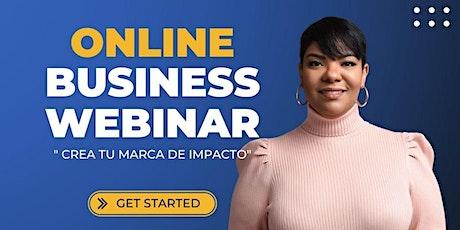 """business webinar  """"Crea tu marca de impacto"""" entradas"""