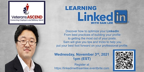 Learning LinkedIn with Sam Lee tickets