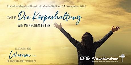 Abendmahlsgottesdienst mit Martin Kölli und KiGo Tickets