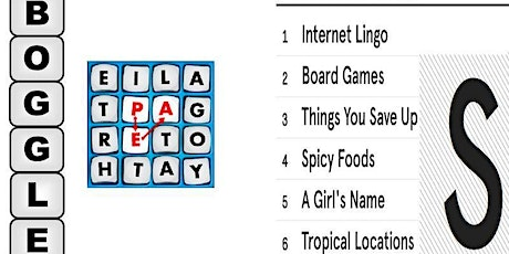 Word Game Night Party: BOGGLE & SCATTERGORIES & More! (Win Prizes Online) tickets