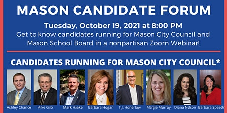 Mason City Council and School Board Candidate Forum tickets