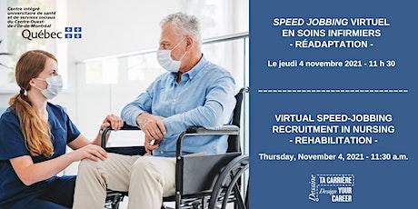 Virtual speed jobbing in nursing- Speed jobbing virtuel en soins infirmiers billets