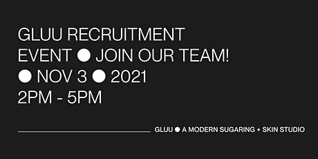 GLUU Recruitment Event - Afternoon Session tickets