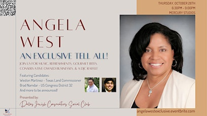 DJC Social Club Presents: Angela West - An Exclusive Tell All Event! tickets