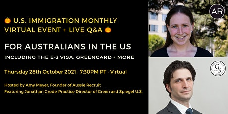 October 2021, U.S. Immigration for Australians (including E-3 Visa) tickets