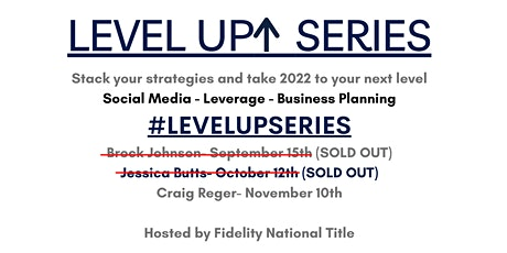 The Level Up Series tickets