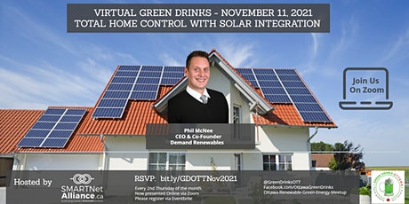 Virtual Green Drinks November 2021 - Total Home Control with Solar tickets