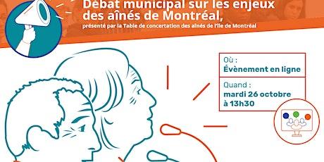 Débat municipal sur les enjeux des aînés de Montréal billets