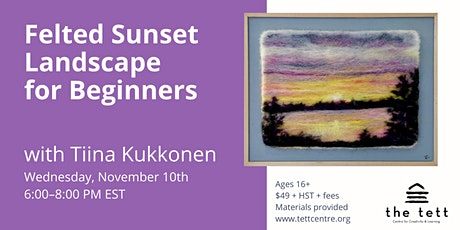 Felted Sunset Landscape for Beginners tickets