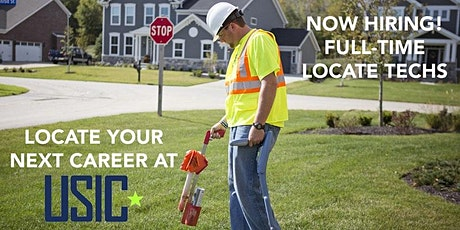USIC - Utility Locator Online Hiring Event - $20 Starting Pay tickets