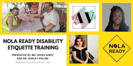 NOLA Ready Disability Etiquette Training tickets