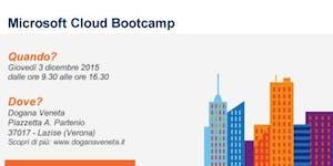 Microsoft Cloud Bootcamp - 3 Dicembre 2015 - Lazise...