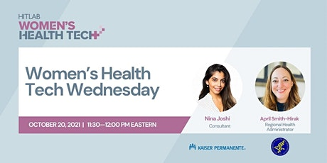 Women's Health Tech Wednesdays   US DHHS tickets