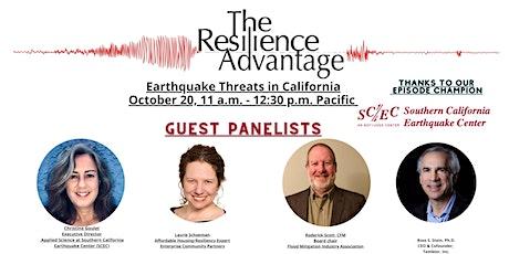 Earthquake Threats in California tickets