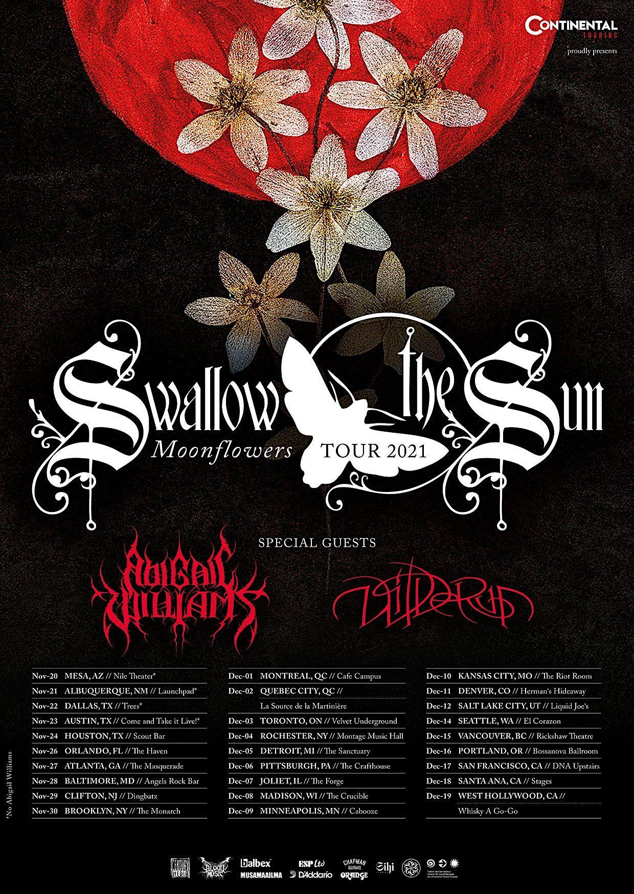 Swallow the Sun // Abigail Williams  //Wilderun // Heartsick Heroine