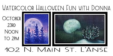 Watercolor Halloween Fun with Donna Lenard tickets