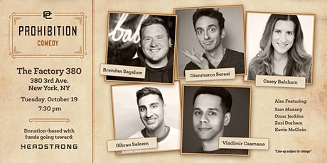 Prohibition Comedy @ Factory 380 tickets