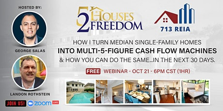 How I Turn Median Single-Family Homes Into Multi-5-Figure Cash Flow Machine tickets
