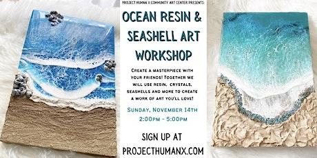 Ocean Resin & Seashell Workshop tickets