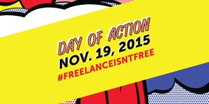 #FreelanceIsntFree Day of Action at Impact Hub
