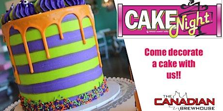 Halloween CakeNight - Edm North Canadian Brewhouse - Drip cake tickets