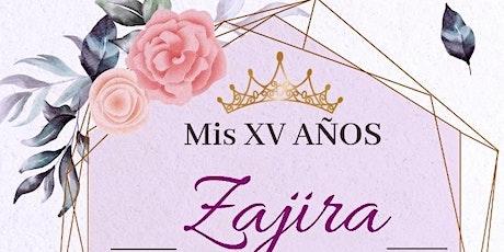 Mis XV años. Zajira Millaray. tickets