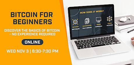 Bitcoin for Beginners - ONLINE | Nov 2021 tickets