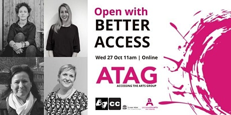Open With Better Access| ATAG  Online 27 October 2021 tickets