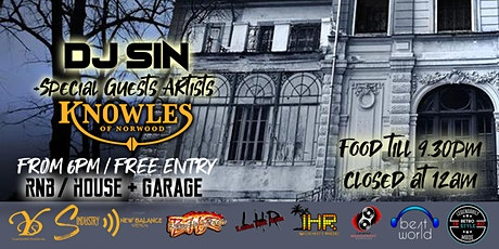Halloween Night at Knowles Of Norwood with DJ Sin tickets
