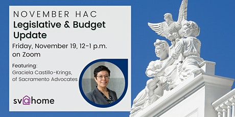 November HAC: California Legislative & Budget Update tickets