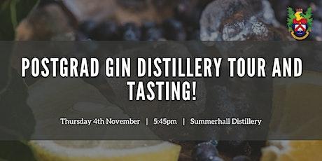 Postgrad Gin Distillery Tour and Tasting tickets