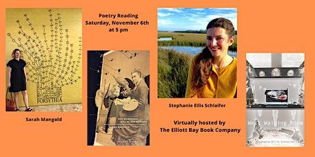 Poets Sarah Mangold and  Stephanie Schlaifer Ellis tickets