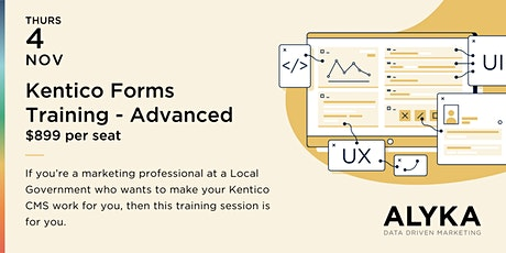 Kentico Forms Training for Local Government Marketing  Professionals tickets