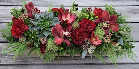 Fresh Floral Christmas Table Arrangement tickets