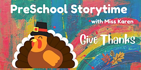 Preschool Storytime: Let's Give Thanks tickets