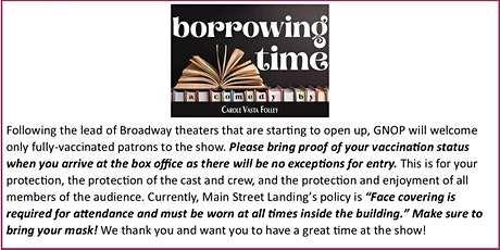 """""""Borrowing Time"""" ... A new comedy by Vermont playwright Carole Vasta Folley tickets"""