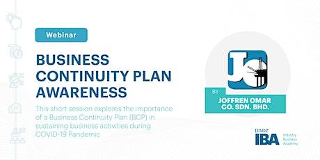 Webinar on Business Continuity Plan Awareness by Joffren Omar Co. Sdn. Bhd. biglietti
